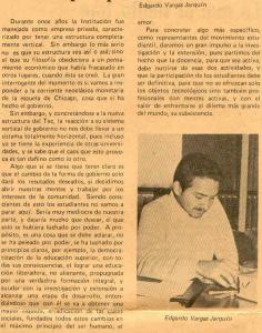 Publicado en Informatec en 1983, cuando fui designado por la FEITEC para que la representara en la comisión que redactó el proyecto del actual Estatuto Orgánico del TEC. La responsabilidad y el honor más grande que tuve como estudiante de San Carlos.