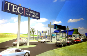 Nueva entrada del bulevar de ingreso al Campus Tecnológico de San Carlos