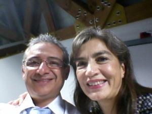 Un selfie con doña Sandra Caufman. Memorable charla en el Tec.