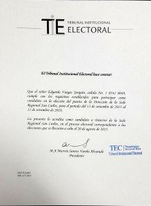 Credenciales de Candidato (2015-2019)